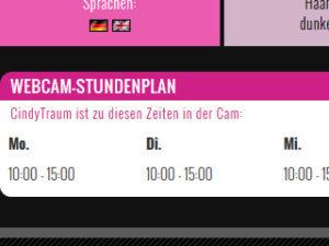 Webcam-Stundenplan